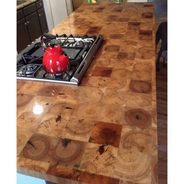 Reclaimed Barn Beam End Grain Counter Top Table Top Island Top Bar Top 85 Liked On Polyvore Featuring Home Furniture Din Diy Countertops Outdoor Kitchen Countertops Butcher Block Countertops
