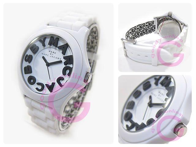 MARC BY MARC JACOBS(マークバイマークジェイコブス) MBM4005 ラウンド ラバーベルト レディースウォッチ 腕時計