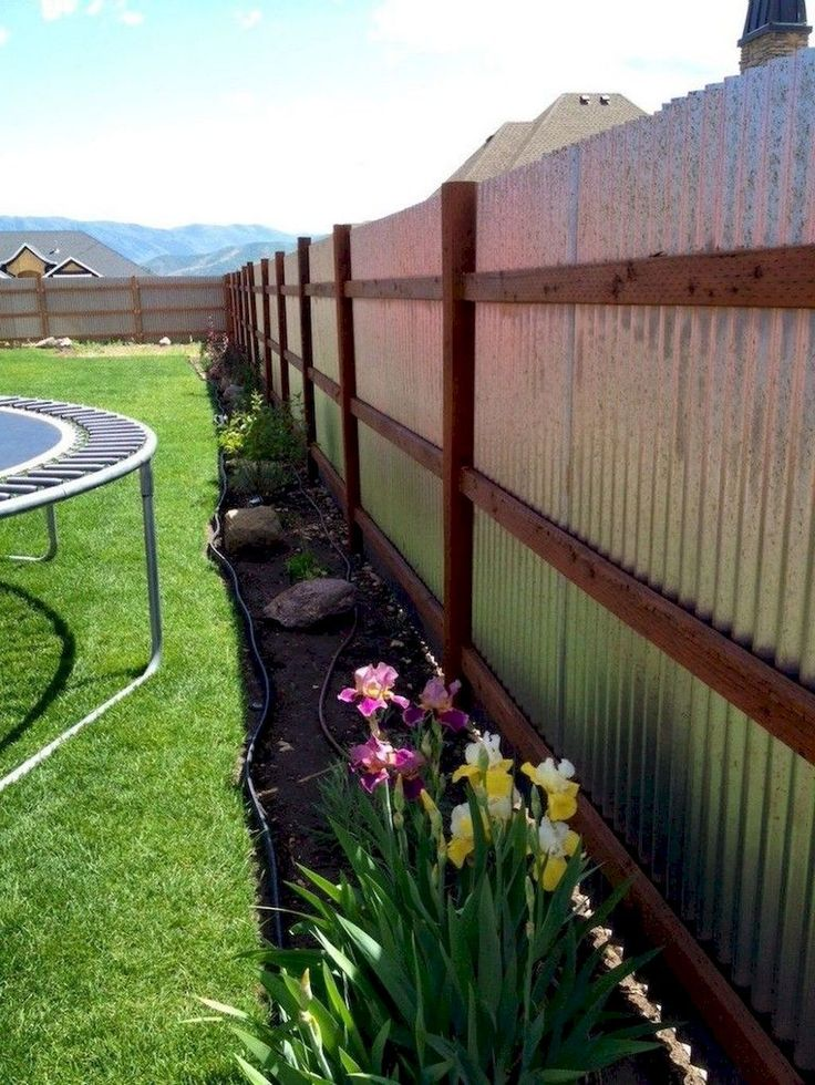 13 diy backyard privacy fence design ideas on a budget on backyard fence landscaping id=89947