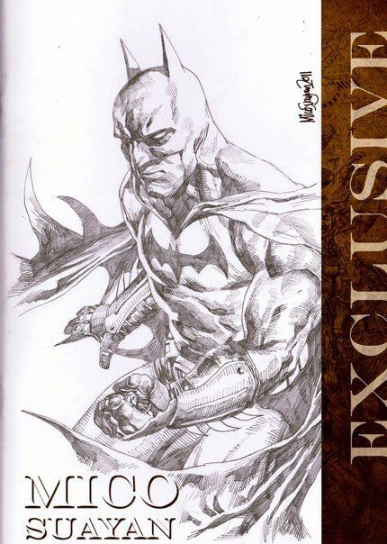 Mico Suayan - Batman Sketch Comic Art