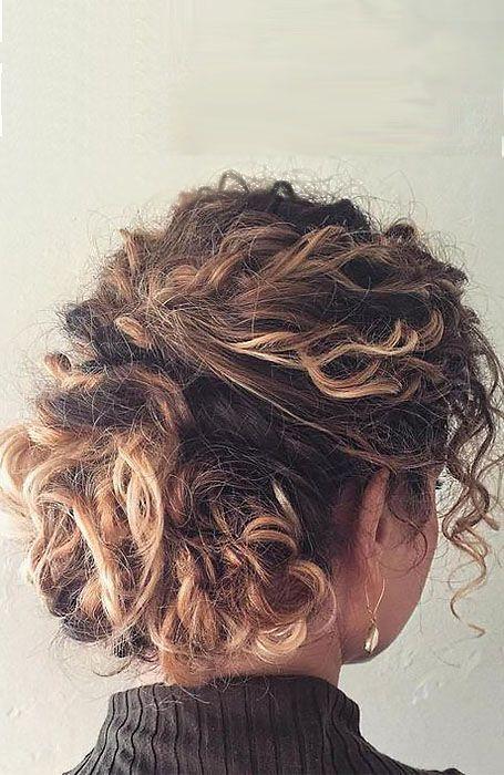 20 Stunning Updos for Short Hair | Short hair updo, Short hair balayage, Curly hair styles naturally