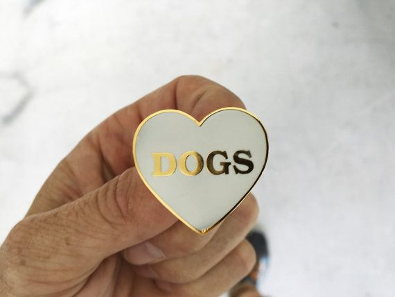 Ich liebe Hunde  harten Zahnschmelz von monstersoutside auf Etsy