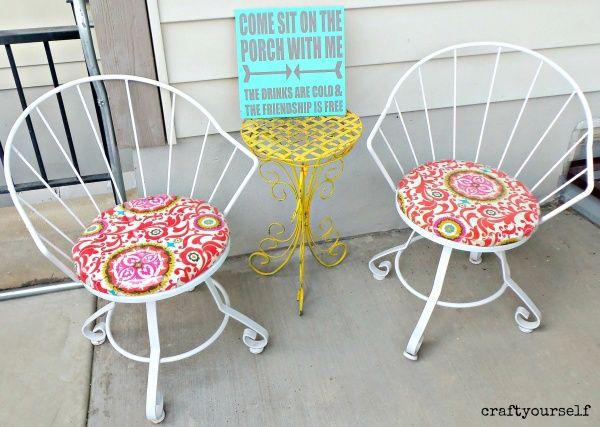 Refurbished Vintage patio chairs