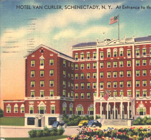 Hotel Van Curler Schenectady Ny 1941 Taken From Washington Ave Http