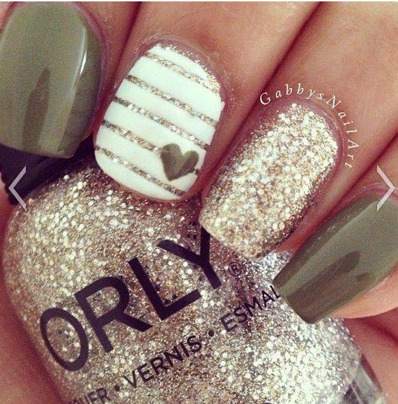 mixed pattern nails