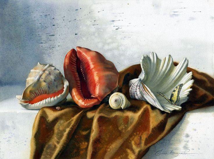 Акварели художницы Базановой Елены. Часть 2. Натюрморты-разное.. Обсуждение на LiveInternet - Российский Сервис Онлайн-Дневников