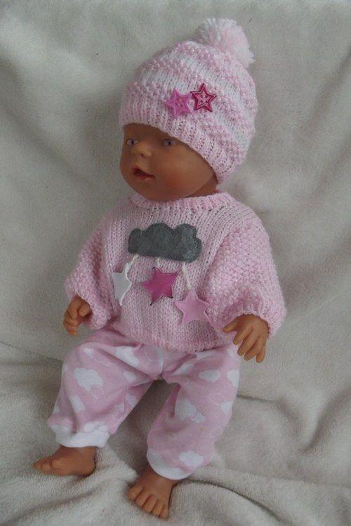 Oblečky pro panenku - růžové červánky