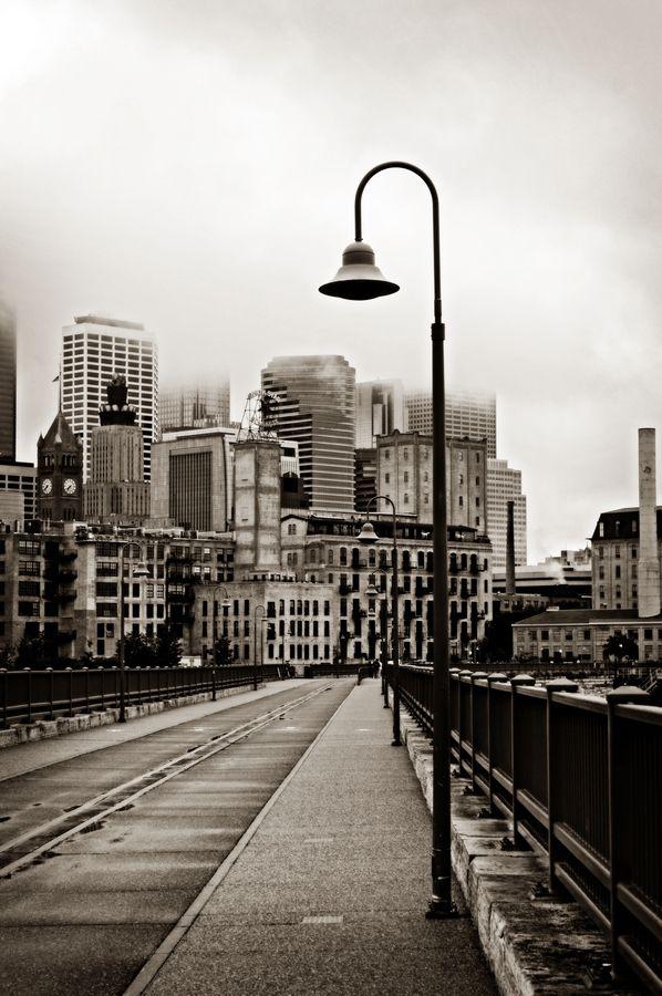 View from St Anthony Bridge. Minneapolis... so pretty!