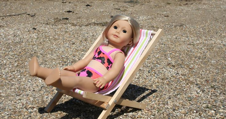 Arts and Crafts for your American Girl Doll: Fold-able beach chair for American Girl Doll