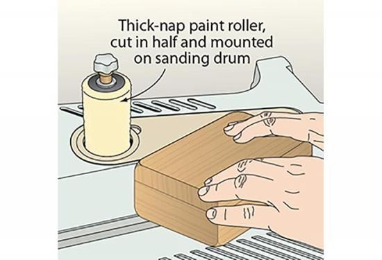 To quickly buff out a wax finish on small projects, turn to your oscillating spindle sander.