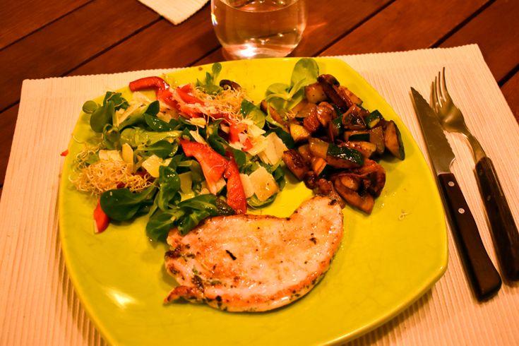 Dieta Perricone,Cena: pavo, verduras crudas con parmesano y cocinadas.