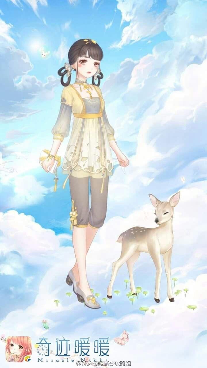 Miracle Nikki ... Mädchen in Wolken mit Rehkitz