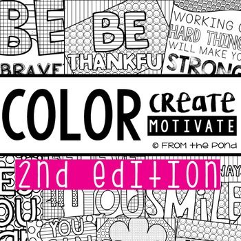 These motivational and inspirational posters to color and create will be sure to motivate your learners!  Simply print from this range of 12 posters and get your students to join your classroom decoration design team!