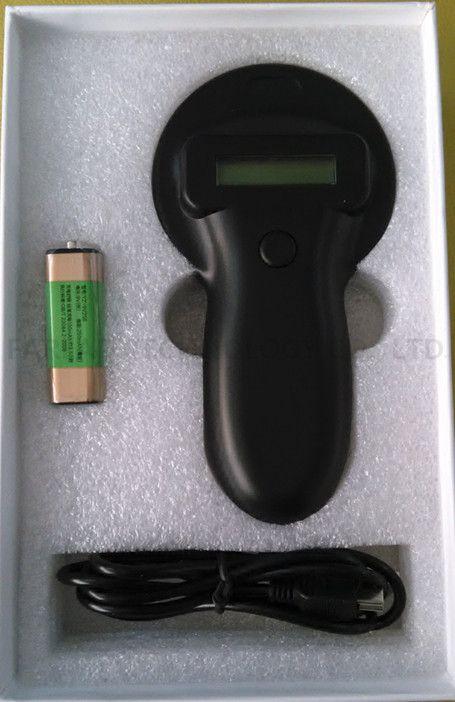 134.2 KHz FDX-B microchip Hewan Peliharaan portabel RFID scanner/hewan Tag RFID Reader