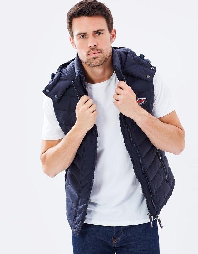 Fuji Double Zip Hooded Vest