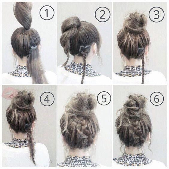 Easy Braided Hairstyles for a Lazy Day ,  #braided #hairstyles,  #Makeup, Makeup #easybraids