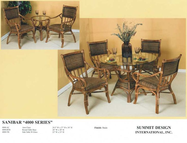 Rattan Dining Room Sets Atlantic Wholesale Furniture U0026 Mattress Co. 828  West Eau Gallie Blvd