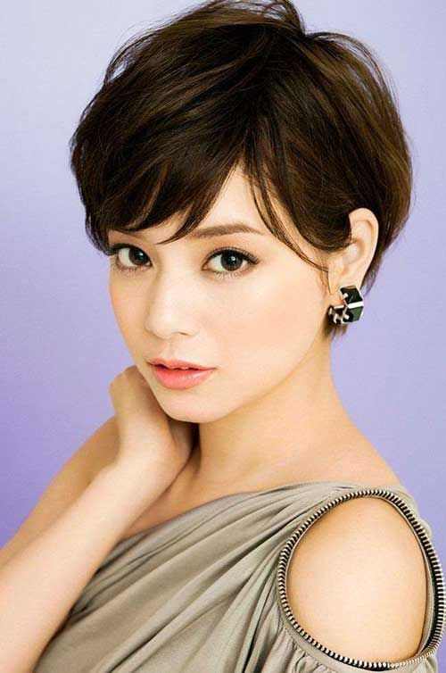 Asian Brown Pixie Hair