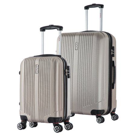 InUSA San Francisco Collection Lightweight Hardside Spinner 2-Piece Set, 18 inch, 26 inch, Beige