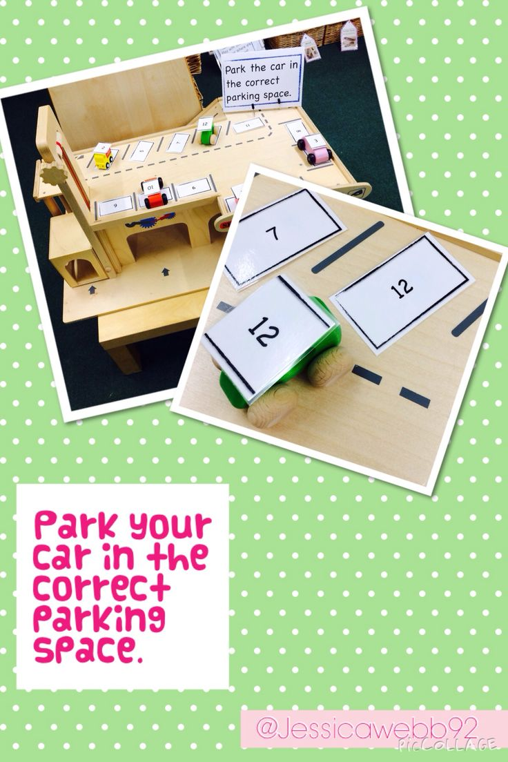 Park the car in the correct parking space. Change to dots to count for the number recognition.