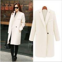 2017 Новая мода женская шерсть пиджак долго кашемировые пальто плюс размер женская осень пальто зимой шерстяные куртки 3 цветов