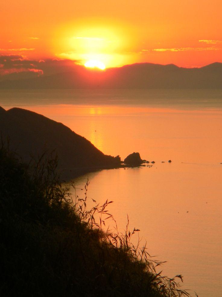 Sunset from Paekakariki Hill on the Kapiti Coast North Island
