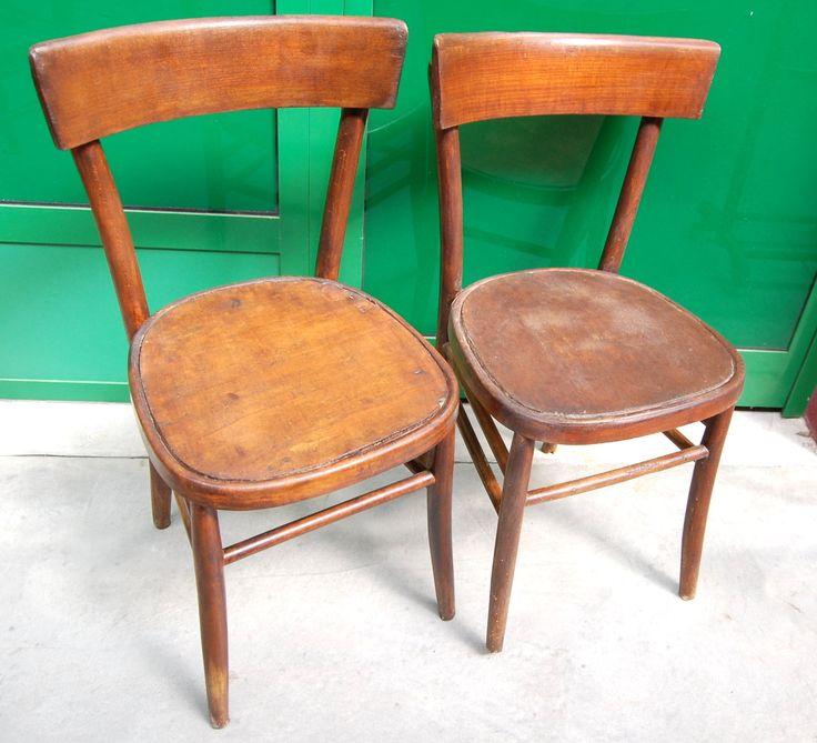 Coppia di sedie in faggio inizio '900