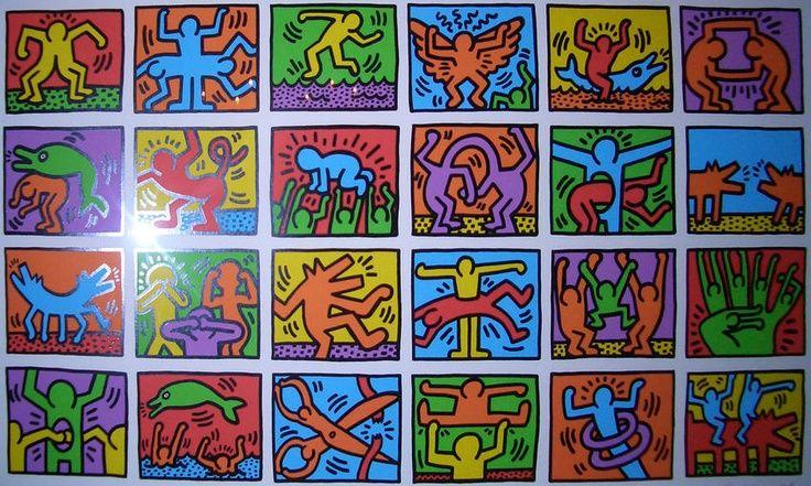 La classe de zazou - les eleves creent un personnage olympique a la maniere de Keith Haring.
