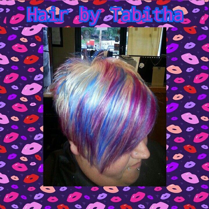 Vivid hairstyles hair color pixie pink blue purple