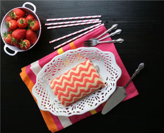Chevron Cake Rollrecipe and tutorial