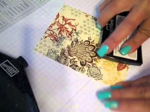 Glittery Paper Napkin Cards