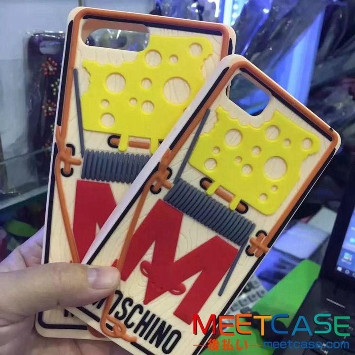 iPhone8 カバー モスキーノ パロディ iPhone7ケース MOSCHINO iPhone7plusケース シリコン 鼠取り