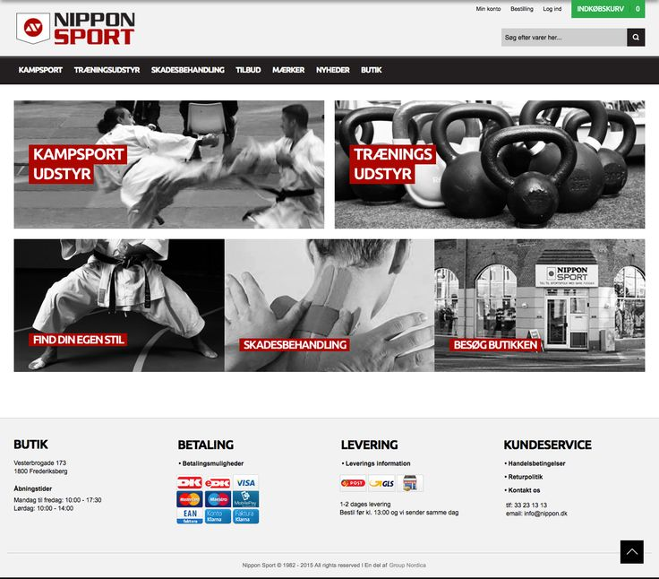 Nippon Sport webshop design. Work done as an intern at Group Nordica. Design and layout by Kia Lange.