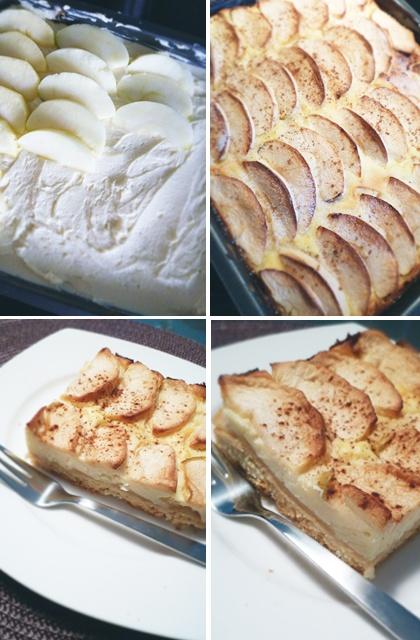 Apfelkuchen mit Topfen