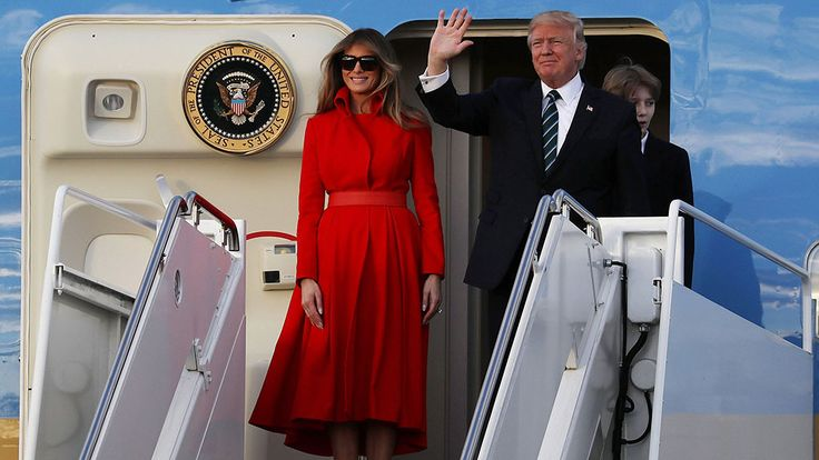 Image result for melania trump air force one