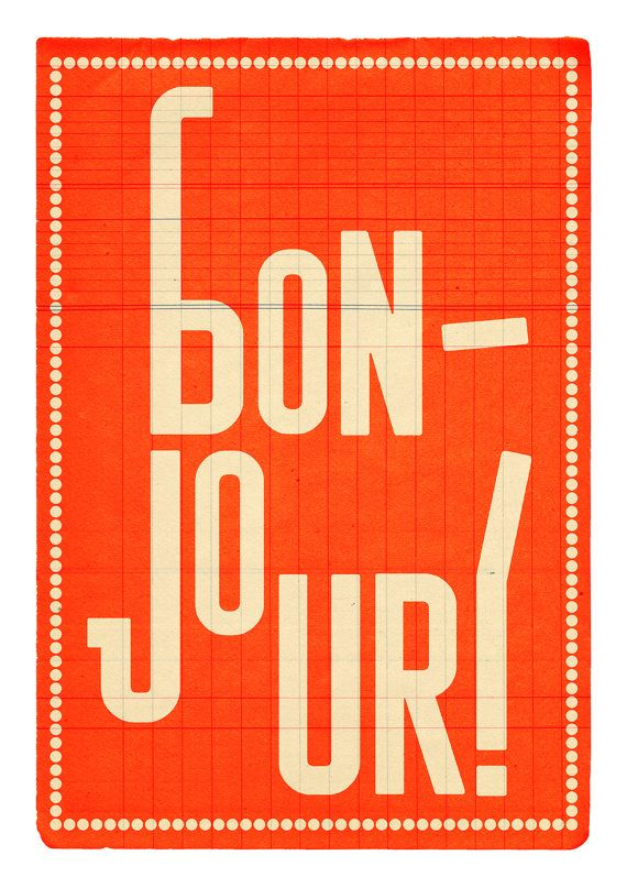 Large illustration print 1170 x 1650 A3 Bonjour by edubarba, €13.00
