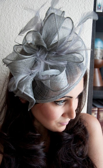 Penny Mesh Royal Hat Feather Fascinator Headband