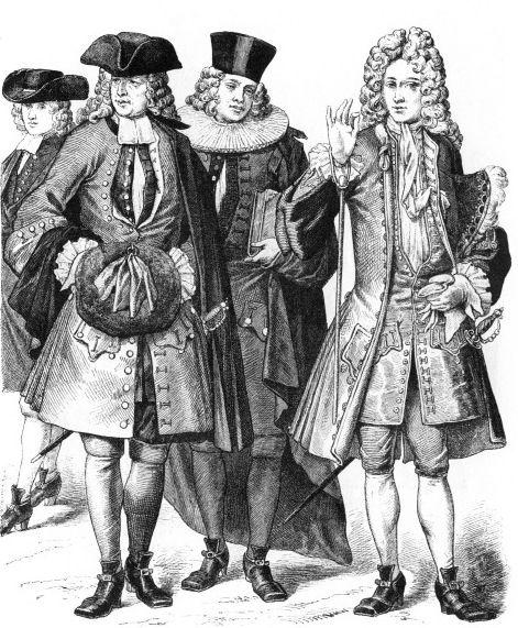 костюмы Швейцарии (студент, горожанин, член городского совета Цюриха, знатный человек)
