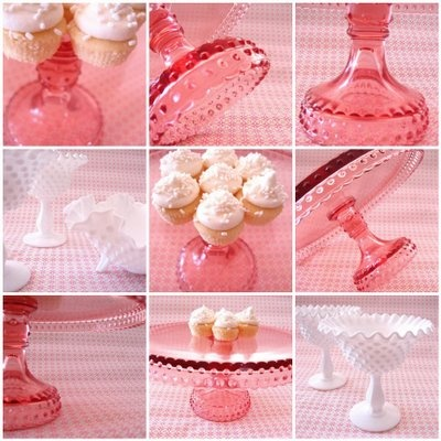 pretty pink glass