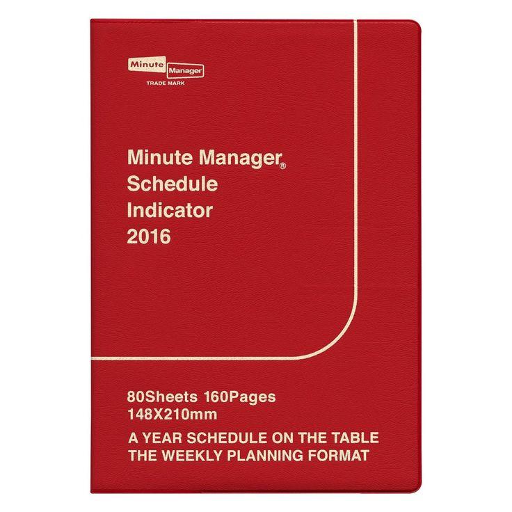 Amazon | 手帳 2016年3月(2016年4月始まり) A5 レフト 手帳 ミニットマネージャー レッド [SX-1] | 手帳