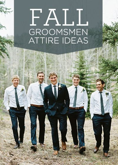 7 great fall groomsmen attire ideas. Love these! {via Project Wedding}
