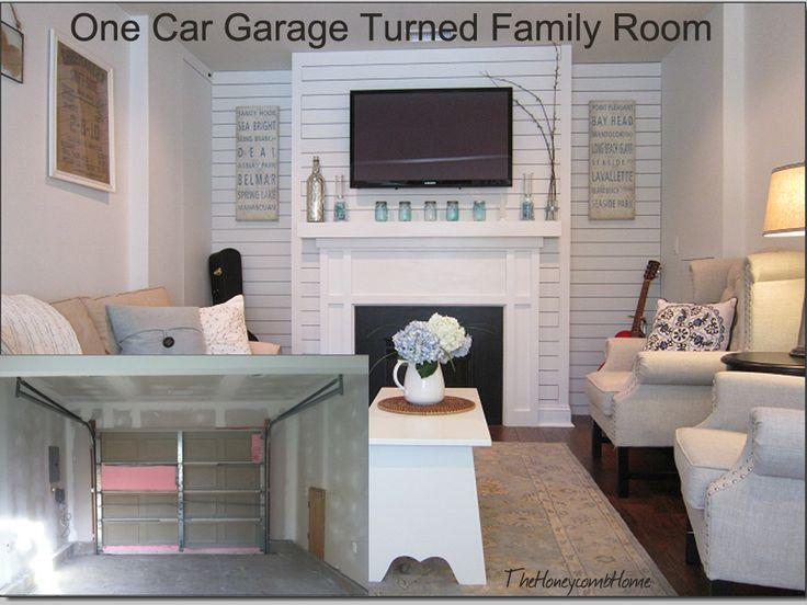 Garage turned family room