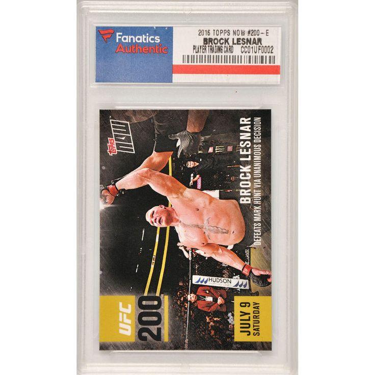 Brock Lesnar UFC 2016 Topps Now UFC 200 #200-E Card