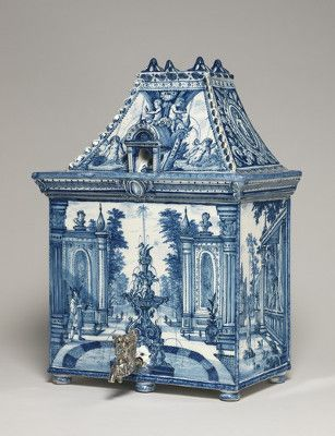 What a lavabo! Water cistern shaped as a house. Dutch, Greek A Factory, Delft, c.1700. Copyright The Fitzwilliam Museum in Cambridge http://www.fitzmuseum.cam.ac.uk/gallery/treasuredpossessions/discover/90.html
