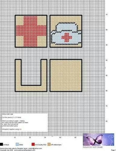 Notepad cube: nurse