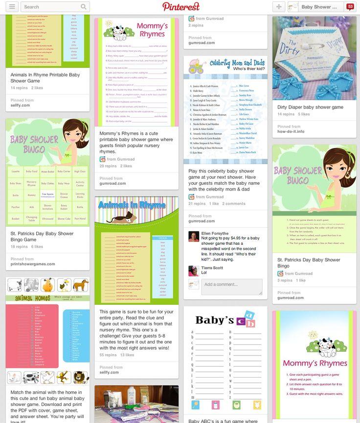 Baby Shower Games On Pinterest