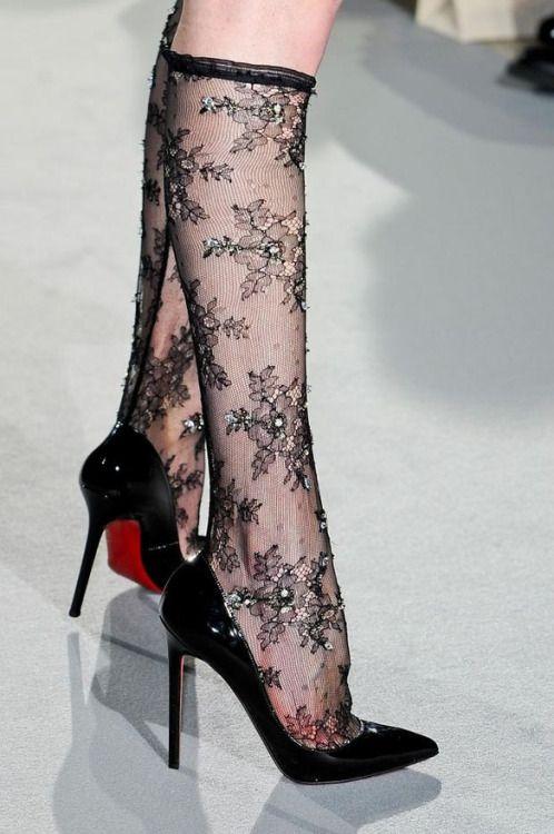froufroufashionista:  Collette Dinnigan runway Winter 2012 (Christian Louboutin heels)
