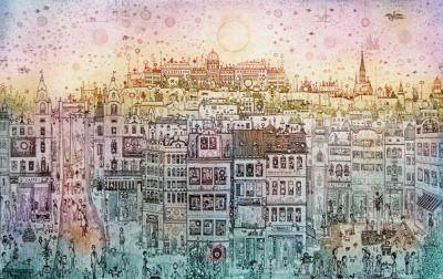 Gross Arnold: Városkép.