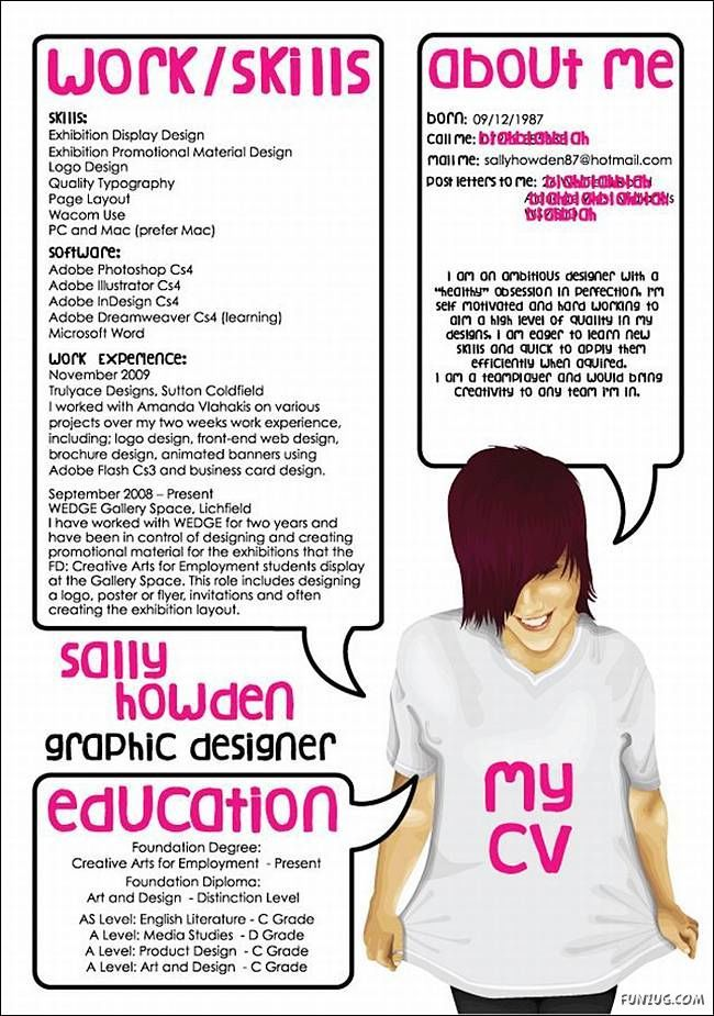 Wacky Resume Idea. How not to write a cv  You'll need a great #CV to find a new job, we write amazing, interview-winning CVs! Visit us at:  www.professional-cv-writer.co.uk Like us at: www.facebook.com/angliacvsolutions