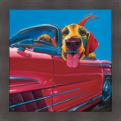@Overstock - Artist: Ron Burns Title: Dog About Town Product type: Framed print http://www.overstock.com/Home-Garden/Ron-Burns-Dog-About-Town-Framed-Print/6418175/product.html?CID=214117 $87.99